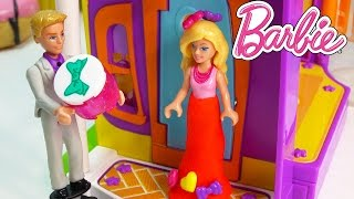 Download Barbie Ken Valentines Day Dinner Playdoh Dress Dressup Playing Fun Mega Bloks Playset Mini Dolls Video