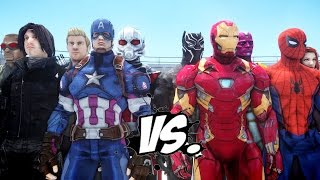 Download Team Captain America vs Team Iron Man - Civil War Battle Video