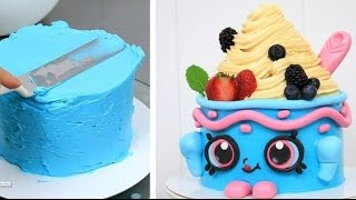 Download SHOPKINS CAKE Yo-Chi The Frozen Yogurt How To Make by CakesStepbyStep Video