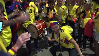 Download World Cup: Colombia fans celebrate 3-0 win in Russia Video