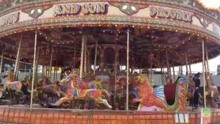 Download Bournemouth's Golden Galloping Horses Carousel Fun Fair Rides, Bournemouth Beach #bournemouth #beach Video