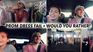 Download PROM DRESS SHOPPING FAIL+ WOULD YOU RATHER! Video