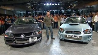 Download Mitsubishi Lancer Evolution Vs Subaru Impreza Power Lap - The Stig - Top Gear - BBC Video