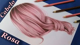 Download Como desenhar cabelo realista colorido (rosa) / How to draw rose hair Video
