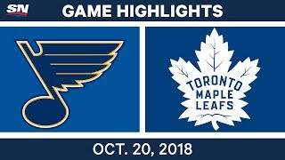Download NHL Highlights | Blues vs. Maple Leafs - Oct. 20, 2018 Video