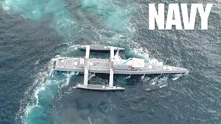 Download Navy Sea Hunter Drone Ship - World's Largest Unmanned Vessel Video