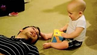Download Baby laughing at Daddy sneezing Video