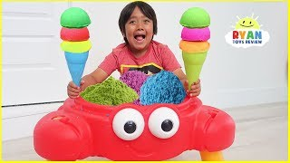 Download Ryan Pretend Play Selling Ice Cream Sand Toy from Crab Shop!!! Video