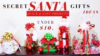 Download DIY SECRET SANTA GIFT IDEAS | DOLLAR TREE CHRISTMAS GIFTS IDEAS | QUICK, EASY & UNDER $10. Video