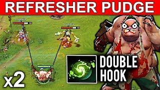Download NEW REFRESHER PUDGE PATCH 7.08 DOTA 2 NEW META GAMEPLAY #19 (DOUBLE HOOK FUNNY MOMENTS) Video
