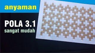 Download Cara MUDAH membuat ANYAMAN KERTAS dengan pola 3.1 sangat mudah Video