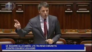 Download BAGARRE ALLA CAMERA: LITE TRA RENZI E BRUNETTA, SCONTRO CON M5S E LEGA NORD Video
