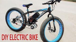 Download DIY Electric Bike 40km/h Using 350W Reducer Brushless Motor Video