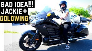 Download Jackie Tries: Honda Goldwing F6B - Bad Idea? Too Soon to Ride 2-Up Beginner Rides Large Touring Bike Video