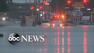 Download Rising waters inundate whole section of Houston Video