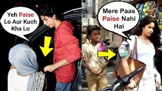 Download What Bollywood Star Kids Do When BEGGARS Ask For Money - Aryan Khan, Jhanvi Kapoor, Sara Ali Khan Video