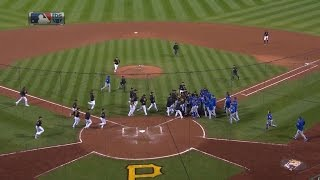 Download Tempers flare after Arrieta is hit by a pitch Video