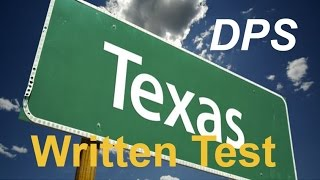 Download Texas DPS Test Questions #1 for Permit Practice and Driver's License Video