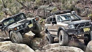 Download Hummer H1 vs Nissan Patrol @ Prado & 80 Series Hill Menai Video