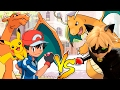 Download Ash pokemon vs Cat Noir Miraculous Ladybug batalha pokemon Pikachu Charizard vs Dragonite totoykids Video