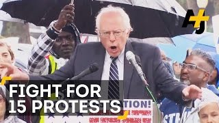 Download Bernie Sanders At 'Fight For 15' Minimum Wage Protest Video