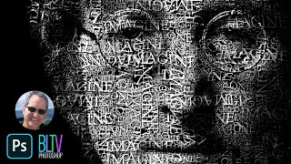 Download Photoshop Tutorial: How to Transform a Face into a Powerful Text Portrait Video