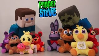 Download Five Nights at Freddys Plushies FUNKO REAL vs FAKE Knock Offs! Fnaf Puppet Steve Video