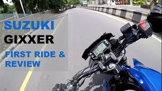 Download Suzuki Gixxer 2017- First Ride and Full Review | RACING BLUE Video