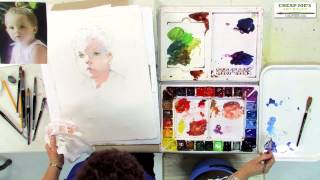 Download Watercolor Techniques with Janet Rogers - Creating Flesh Tones-Part 2 Video