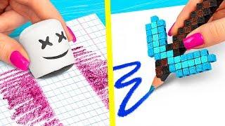 Download 10 DIY Fortnite School Supplies vs Minecraft School Supplies Challenge! Video