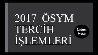 Download 2017 ÖSYM TERCİH İŞLEMLERİ Video