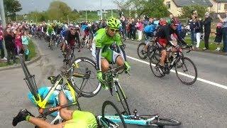 Download Giro d'Italia Massive Crash 2014 Stage 3 Ireland, Slow Motion Video