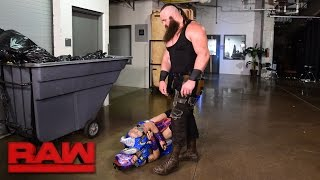 Download Braun Strowman lays waste to Team Red Superstars: Raw, April 17, 2017 Video