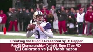 Download Pac-12 Championship Preview - (8) Colorado vs. (4) Washington   BREAKING THE HUDDLE WITH JOEL KLATT Video