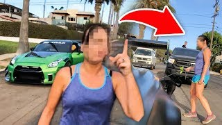 Download ANGRY LADY VANDALIZES MY GTR RIGHT IN FRONT OF ME! *LIVE FOOTAGE* Video