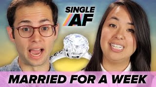 Download Single People Get Married For A Week • Single AF Video