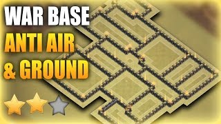 Download TH9 (Town Hall 9) War Base 2017 Anti GROUND & AIR (9x% Base) | Clash Of Clans Video