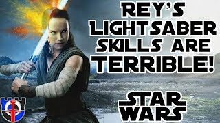 Download Rey's terrible very bad Lightsaber skills: Star Wars Video