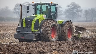 Download Spring Time Cultivation with Claas 5000 Xerion with 9 furrow plough Video