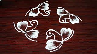 Download Beautiful new birds rangoli designs - simple kolam designs with 7 dots - latest creative muggulu Video