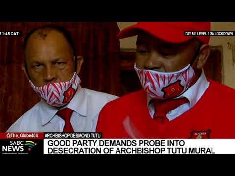 Good Party demands probe into defacing of Archbishop Desmond Tutu's mural in Cape Town