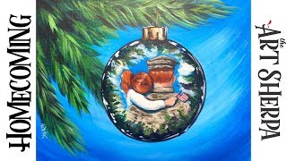 Download How to paint a Reflection on a Christmas Ornament Acrylic on canvas Video