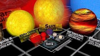 Download Universe Size Comparison 3D Video