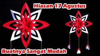 Download DIY - Hiasan 17 Agustus Dari Kertas | Dekorasi 17 Agustus | Bunga Merah Putih Video