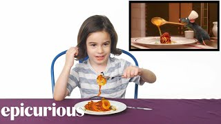 Download Kids Try Famous Foods From Movies, From Harry Potter to Ratatouille Video