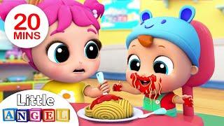 Download Yum Yum, Baby Loves Spaghetti | Little Angel Kids Songs & Nursery Rhymes Video