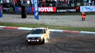 Download Audi Coupe turbo quattro donuts Video