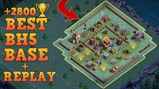 Download Builder Hall 5 Base / BH5 Builder Base w/Replay!! / Anti 3 Star Base Layout | Clash of Clans Video