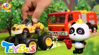 Download Super Monster Truck Rescue Team   Super Panda Firefighter   PAW Patrol   Kids Toys   ToyBus Video