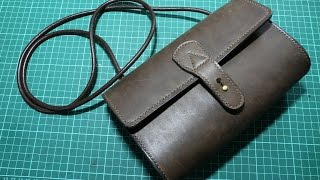 Download Making a simple leather lady sling bag Video
